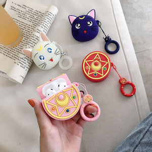Luna Sailor Moon Apple Airpods coque