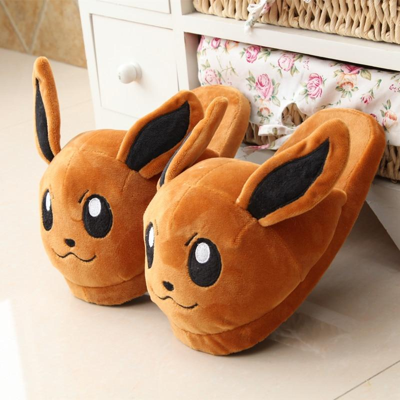 Pokemon Eevee Plush Stuffed Slipper