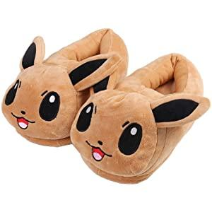 Pokemon Eevee Plush Stuffed Slipper Adult Shoes - Buy Online in