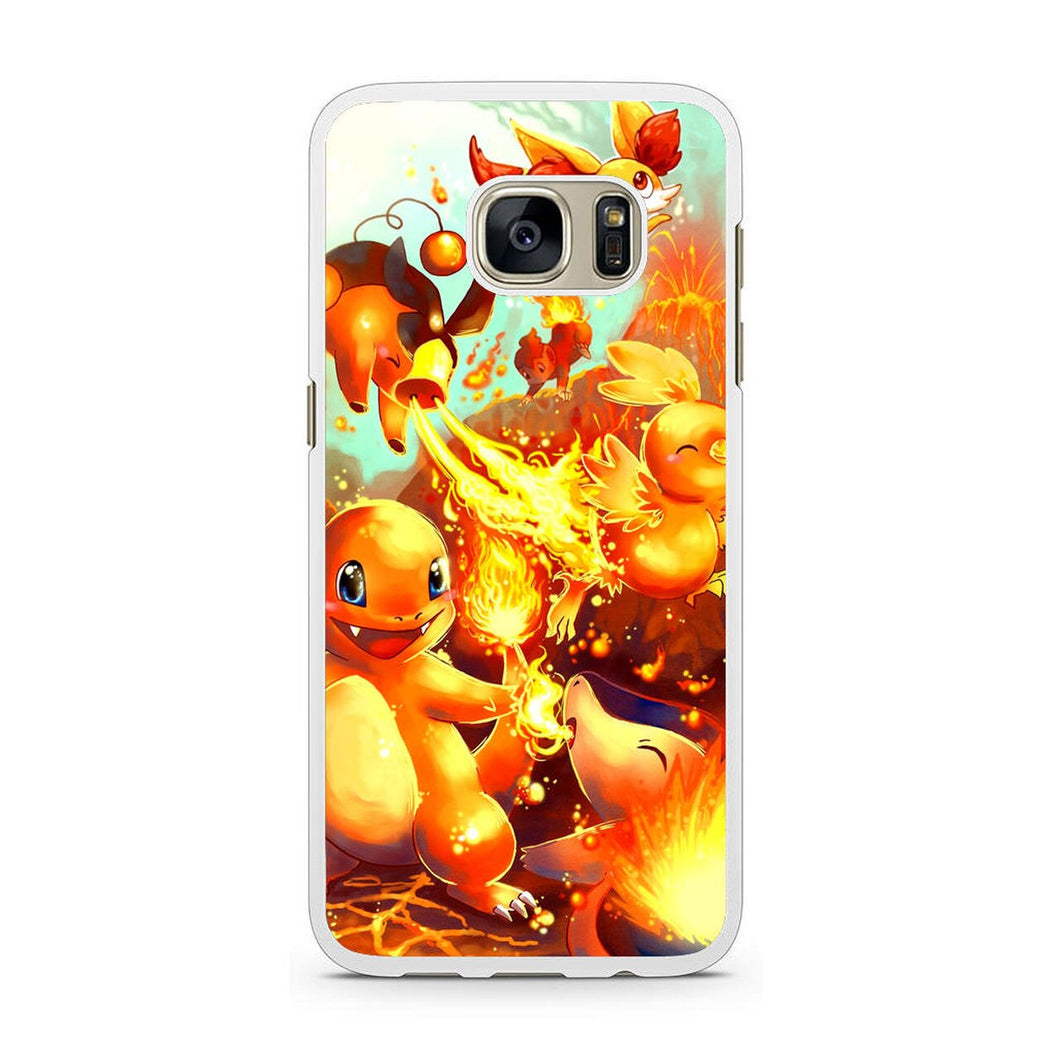 Pokemon (charmander pixels) Galaxy S7 coque