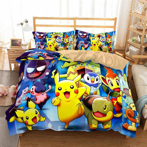 Pokemon single duvet coque and pillow