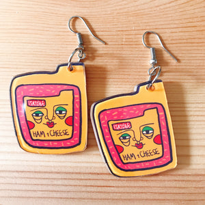 Ham and Cheese Earring