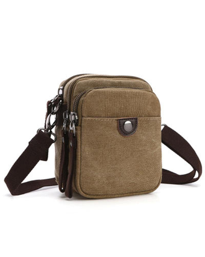 Solid One Buckle Small Shoulder Bag