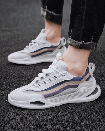 Mesh Breathable Lace-up Athletic Sneakers
