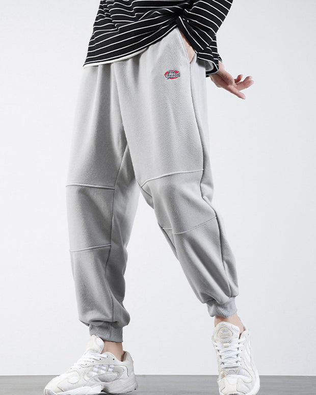 Logo Embroidery Loose Harem Latern Pants