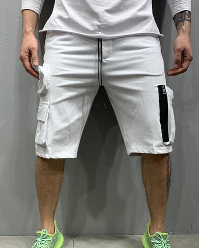 Casual Solid Color Overall Short Pants