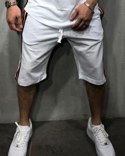 Side Striped Jogger Shorts