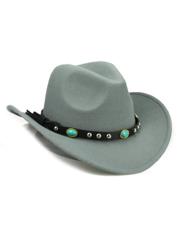 National Style Solid Color Western Cowboy Hat