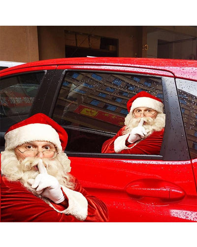 Realistic Santa Claus Car Rear Window Sticker Free Shipping