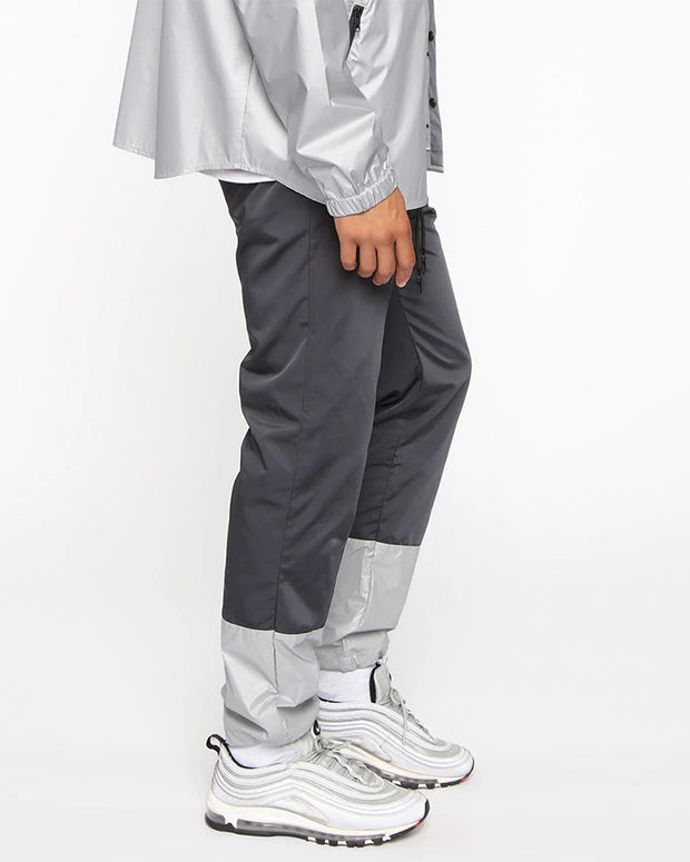 Sport Color Block Drawstring Long Straight Pants