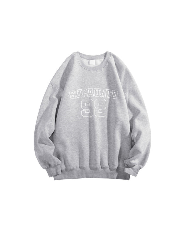 Letter Print Long Sleeve Loose T-shirts