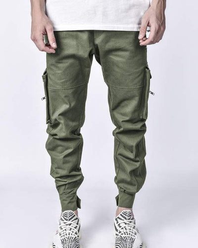 Solid Color Loose Cargo Pants