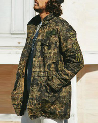 Camouflage Printing Long Sleeve Jackets