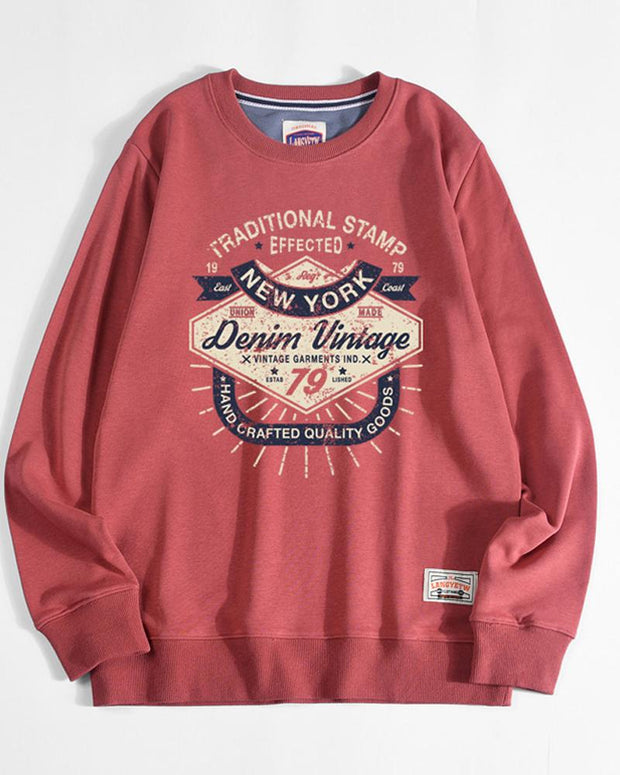 Letter Print Long Sleeve Loose Sweatshirts T-shirts