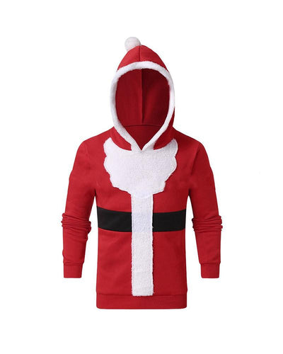 Christmas Colorblock Hoodies Long Sleeve Sweater Sweatshirts