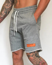 Solid Tie Loose Sports Shorts