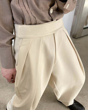Solid Color Straight Baggy Harem Pants