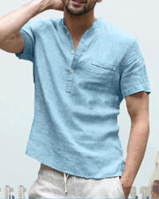 Linen Half Button Shirt