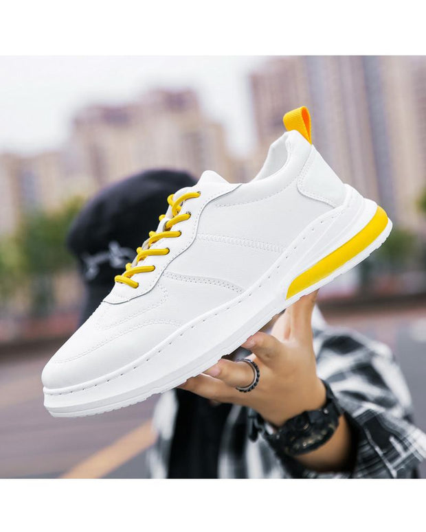 Color Block Lace-up Round-toe Sneakers