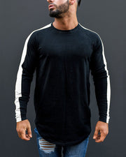 Color Patchwork Long Sleeve T-shirts