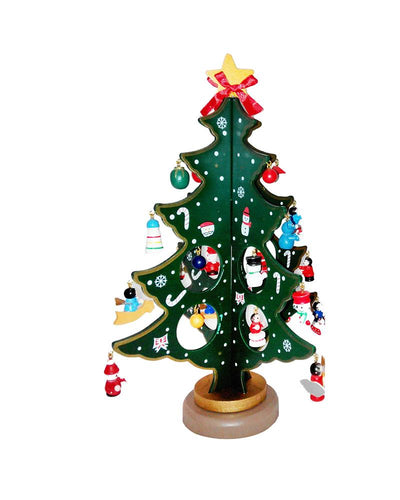 Christmas Tree Wooden Diy Ornaments