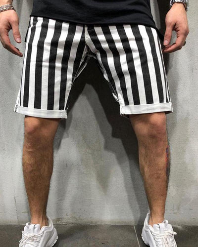 Striped Casual Jogger Shorts