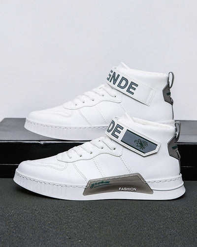 Colorblock Round-toe Breathable High Top Sneaker