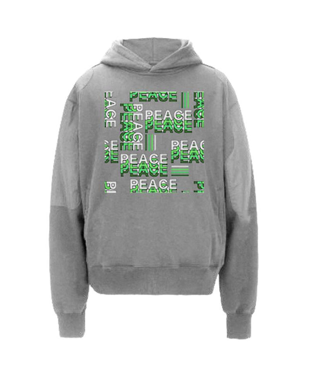 Letter Printing Long Sleeve Hooded Sweatshirt