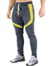 Colorblock Patchwork Skinny Jogger Pants