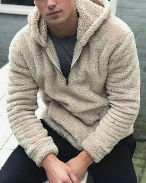 Solid Long Sleeve Loose Fluffy Hoodies Sweatshirts