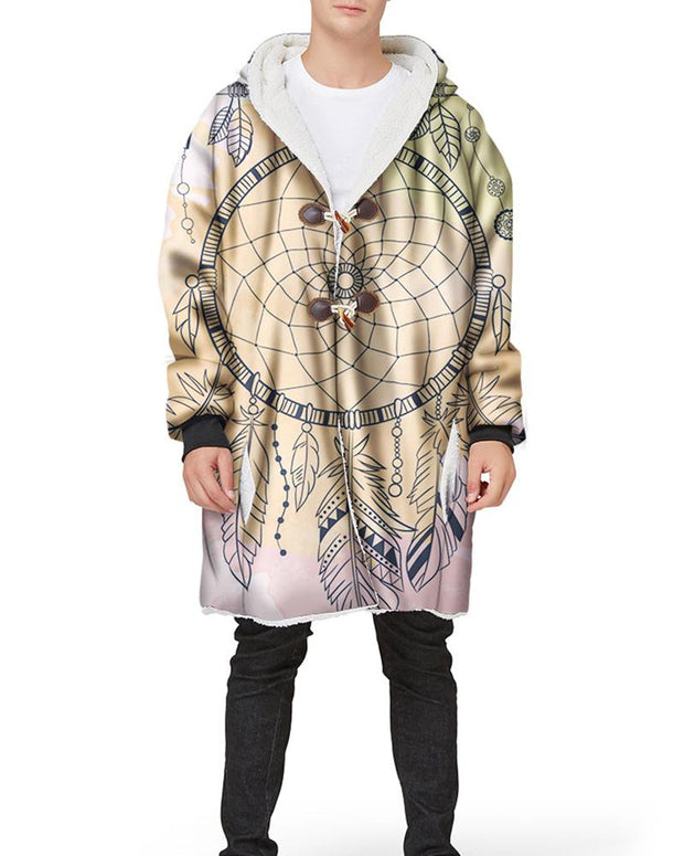 Dreamcatcher Printing Long Sleeve Loose Hoodies Coats