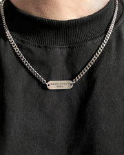 Metallic Band Pendant Necklace