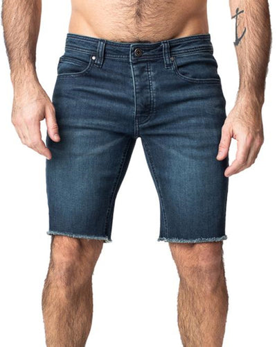 Punk Solid Color Denim Short Pants