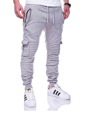 Solid Loose Drawstring Jogger Pants