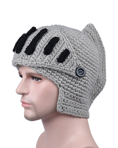 Creative Colorblock Soldier Cap Knitted Hats