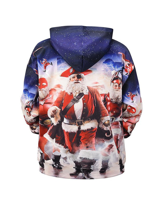 3D Christmas Patterns Print Long Sleeve Hoodies Sweatshirts