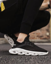 Colorblock Mesh Upper Breathable Sneakers