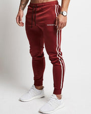 Letter Printing Striped Skinny Sweatpants