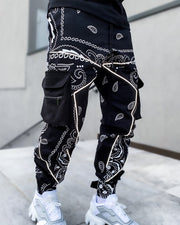 Halen All Over Print Long Loose Cargo Pants