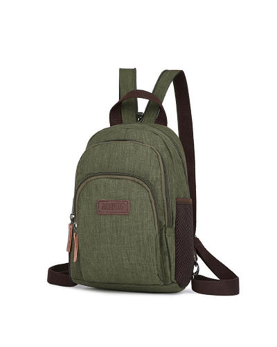 Solid Logo Patch Strap Backpack