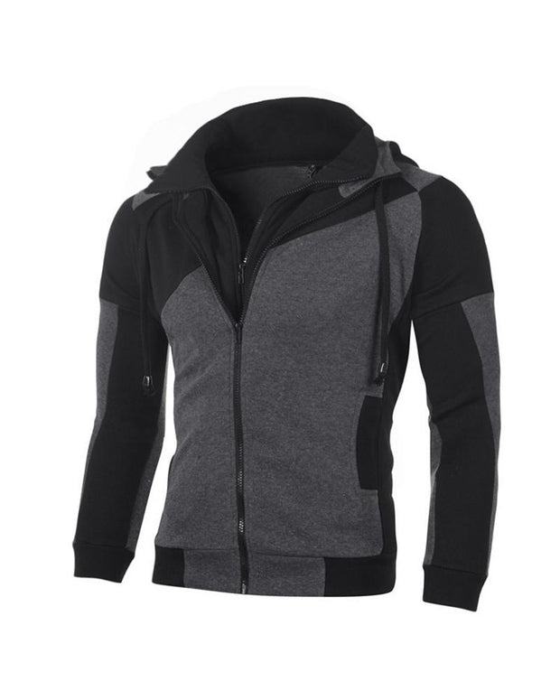 Colorblock Long Sleeve Fitting Hoodies Sweatshirts Coats