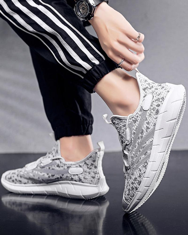 Mesh Lace-up Breathable Athletic Sneakers