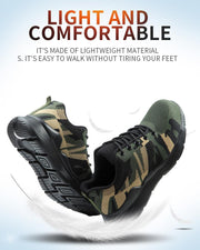 Lace-up Round-toe Camouflage Sneakers