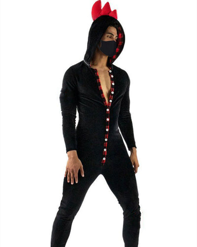 Rooster Hoodies Long Sleeve Jumpsuit