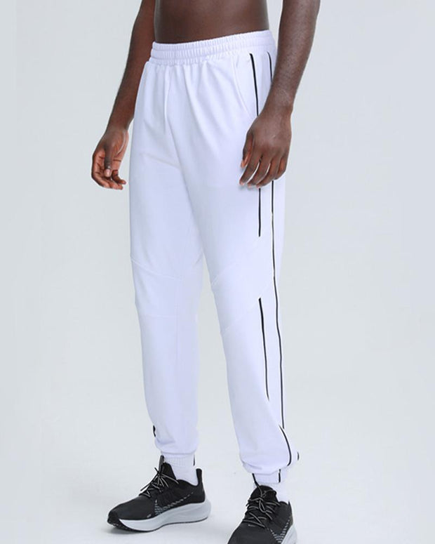 Solid Color Striped-side Loose Sweatpants