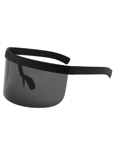 Colorblock Big Frames Wind Protective Sunglasses