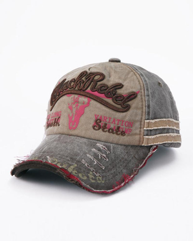 Vintage Letter Embroidery Baseball Cap