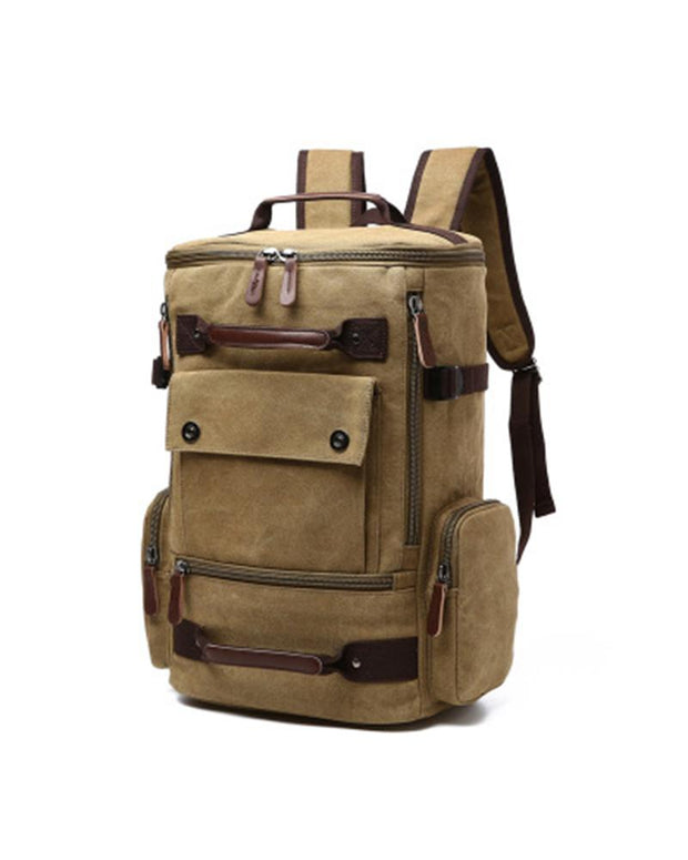 Solid Strap PU Border Big Outdoor Backpack