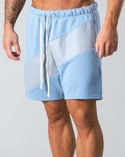 Color Block Drawstring Baggy Short Pants