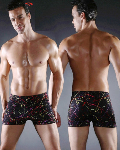 Ink Splash Skinny Swim Short Pants